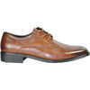 BRAVO Men Dress Shoe MILANO-4 Oxford Shoe Brown