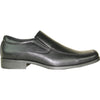 BRAVO Men Dress Shoe MONACO-2 Loafer Shoe Black