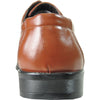 BRAVO Men Dress Shoe MONACO-3 Oxford Shoe Brown