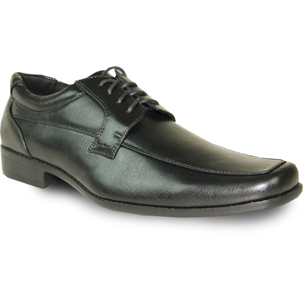 BRAVO Men Dress Shoe MONACO-4 Oxford Shoe Black