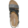 VANGELO Women Sandal REESE Wedge Sandal Black