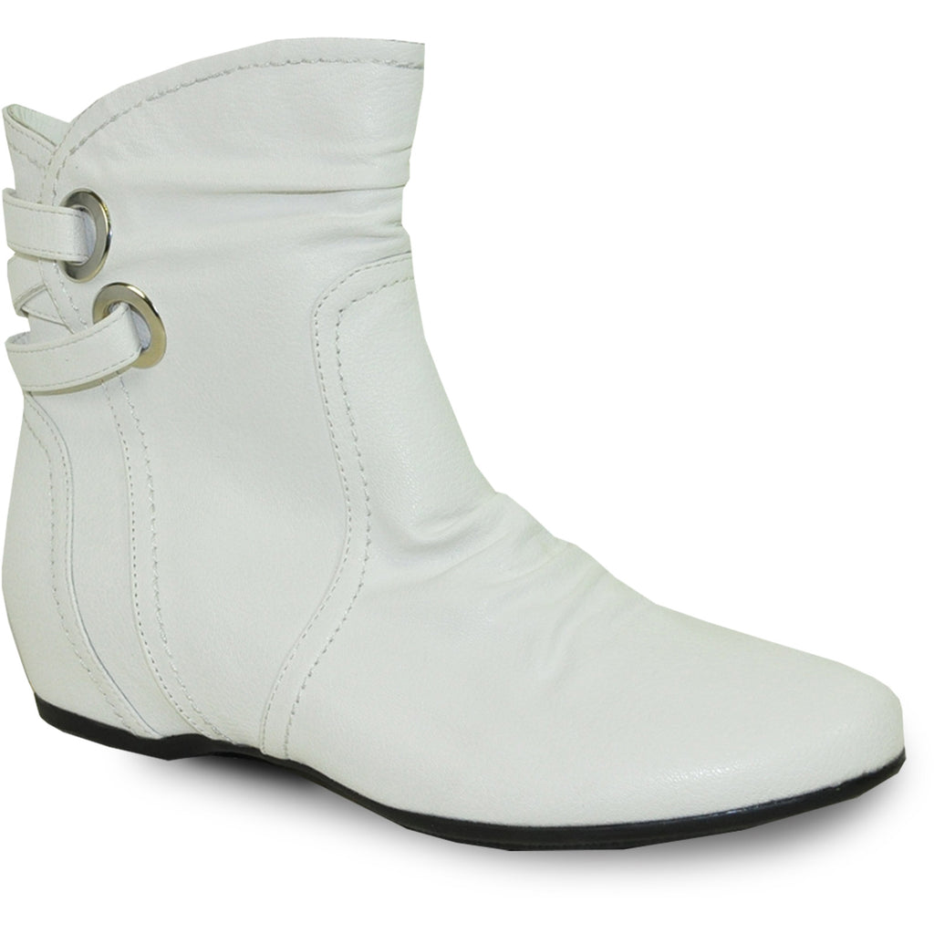 VANGELO Women Boot SD4416 Ankle Casual Boot White