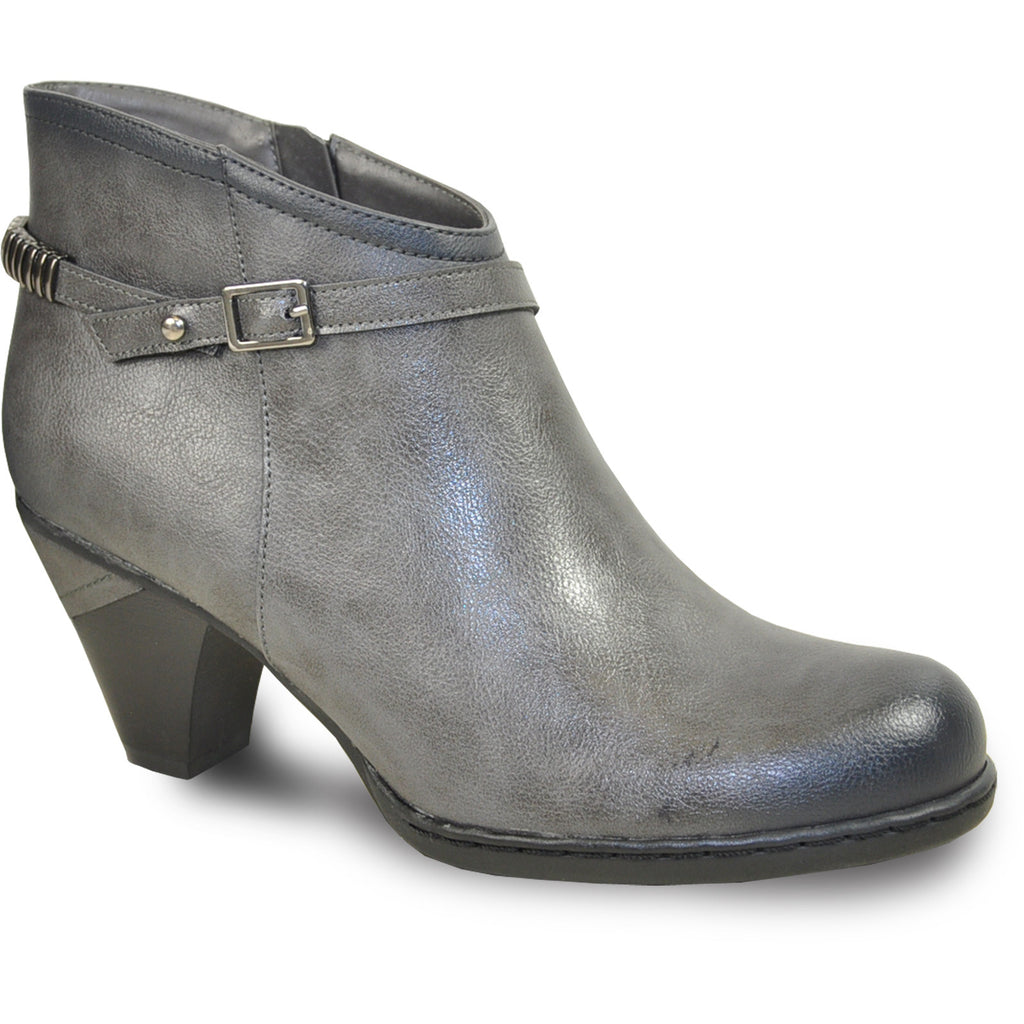 VANGELO Women Boot SD6402 Ankle Dress Boot Grey