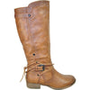VANGELO Women Boot SW4431 Knee High Casual Boot Taupe Brown