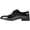 VANGELO Men Dress Shoe TAB Oxford Formal Tuxedo for Prom & Wedding Black Patent - Wide Width Available