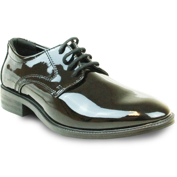 VANGELO Boy TABKID Dress Shoe Formal Tuxedo for Prom & Wedding Black Patent