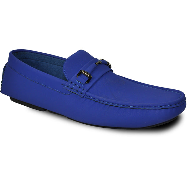 BRAVO Men Casual Shoe TODD-1 Driving Moccasin Royal Blue