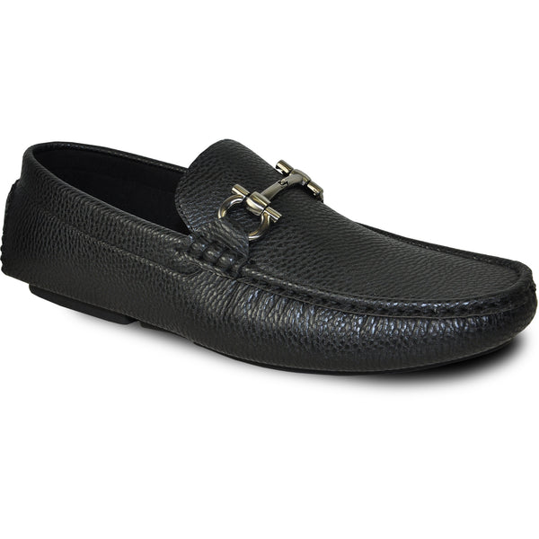 BRAVO Men Casual Shoe TODD-2 Driving Moccasin Black
