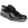 VANGELO Men Dress Shoe TUX-1 Oxford Formal Tuxedo for Prom & Wedding Black Patent - Wide Width Available