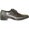 VANGELO Men Dress Shoe TUX-5 Oxford Formal Tuxedo for Prom & Wedding Brown Matte - Wide Width Available