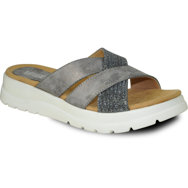 VANGELO Women Sandal ZARA Wedge Sandal Pewter