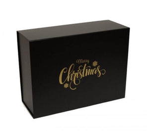 Large Snap Shut Luxury Merry Christmas Black Box