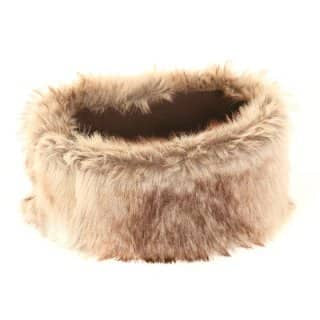 CHAMPAGNE FAUX FUR HEAD BAND - Glamour By LKUK