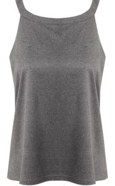 GREY BASIC LOOSE FIT TOP - Glamour By LKUK