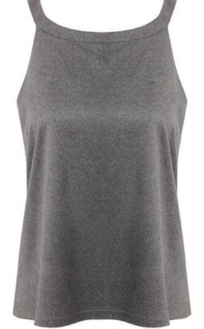 GREY BASIC LOOSE FIT TOP
