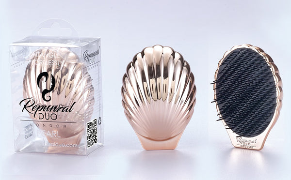 ROSE GOLD PEARL HAIR BRUSH