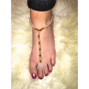 Pearl Beaded Feet Jewellery-Glamour By DKUK Ltd