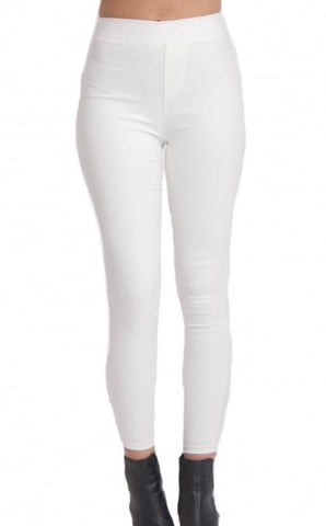 WHITE SKINNY STRETCH JEGGINGS