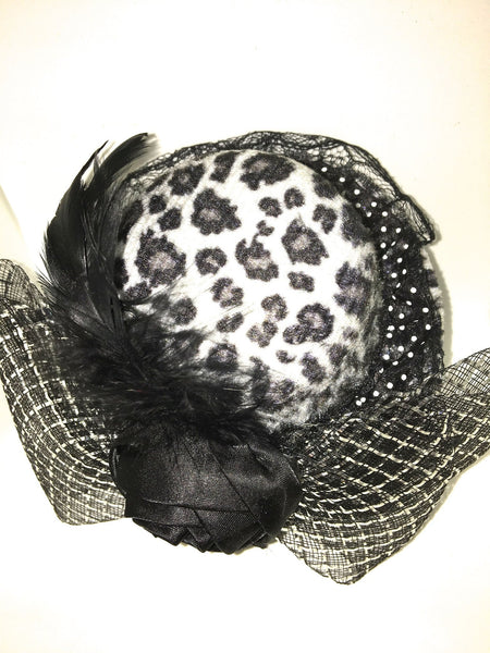 Leopard Print Fascinator-Glamour By DKUK Ltd