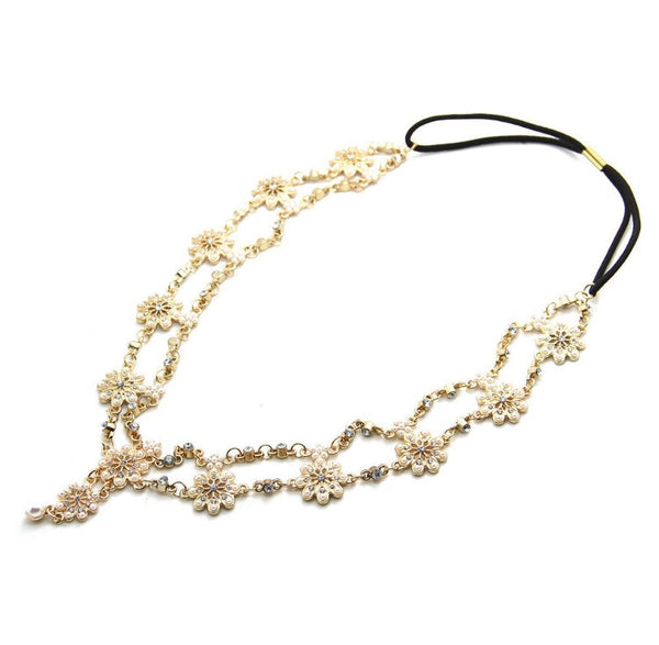 Gold & White Pearl Hair Jewellery-Glamour By DKUK Ltd