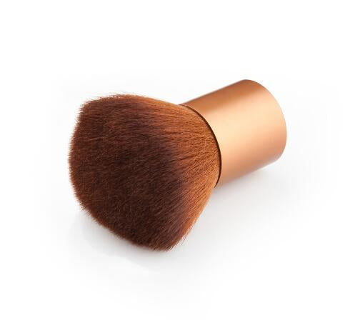Glowii Bronze-Gold Handle Brown Hair Kabuki Brush