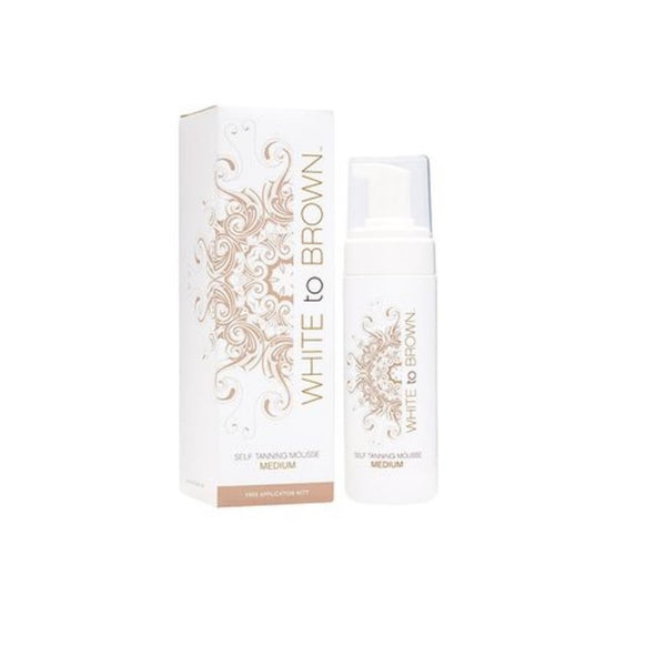 WhitetoBrown Self Tanning Mousse + FREE MITT Medium 150ml - Glamour By LKUK