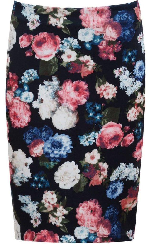 Floral Pencil Skirt-Glamour By DKUK Ltd