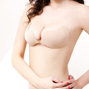 Nude Stick on Strapless Invisible Gel Bra-Glamour By DKUK Ltd