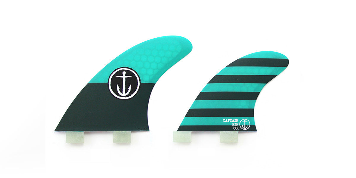 Captain Fin CF Quad Medium Twin Tab Fin Set