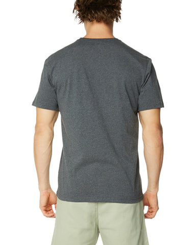 O&E Men's Spearhead Tee - Charcoal Marle