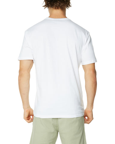 O&E Men's Collins Golden Arch Tee - White