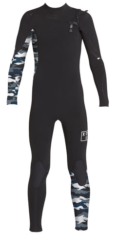 Xcel Youth 3/2 Comp X Fullsuit - Black/Snow Camo