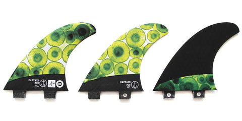 Captain Fin Chemistry Carbon Twin Tab Tri Fin Set