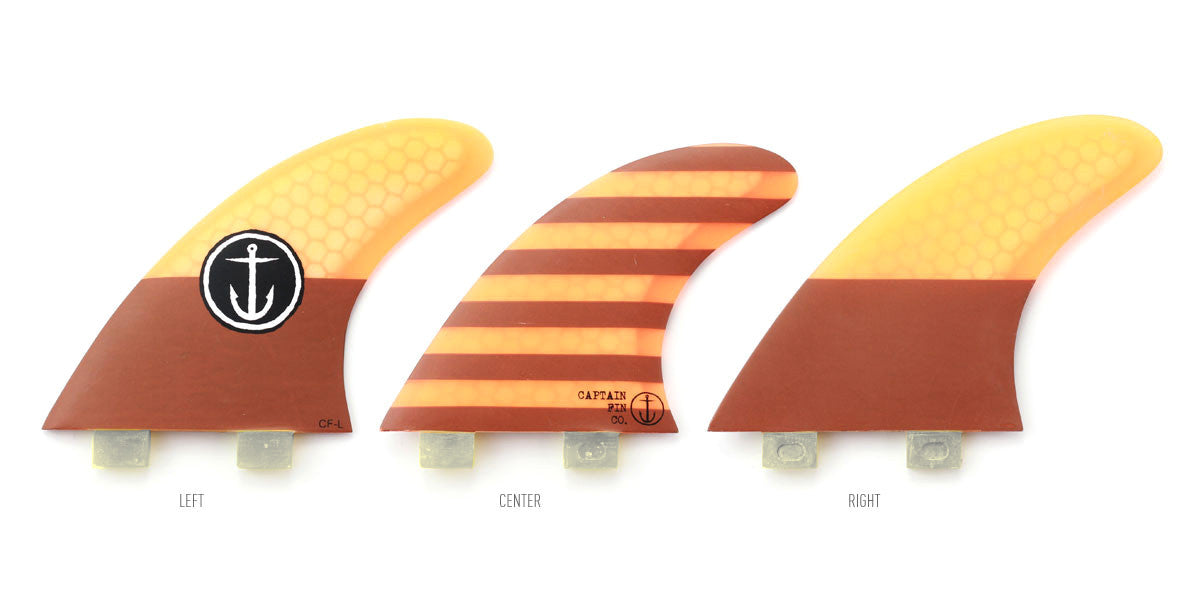 Captain Fin CF Large Twin Tab Tri Fin Set