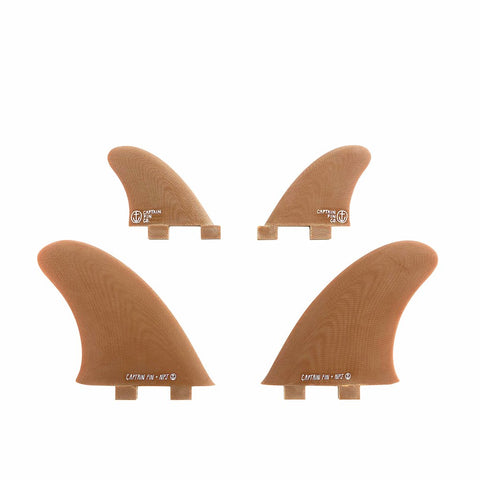 Captain Fin NPJ Quartet Quad Fin Set - Twin Tab