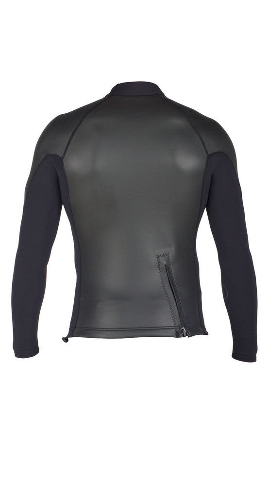 Xcel Axis L/S Smoothskin Backzip Top - Black