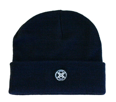 Exit Surf Icon Surf Check Beanie - Navy