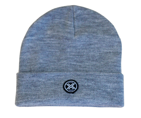 Exit Surf Icon Surf Check Beanie - Heather Grey