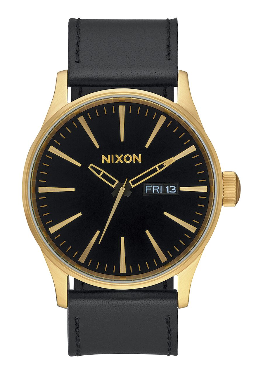 Nixon Sentry Leather - Gold/Black