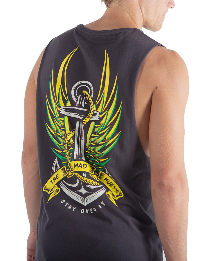 The Mad Hueys Fly High Muscle Tee - Almost Black