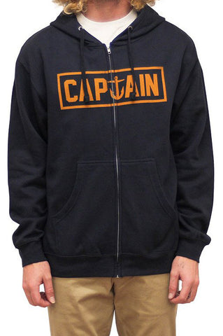 CAPTAIN FIN NAVAL CAPTAIN ZIP FLEECE - NAVY