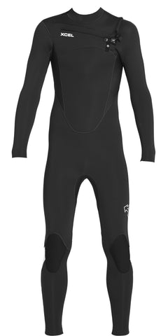 Xcel Youth Axis 2mm Springsuit - Ink Blue/Lemonade