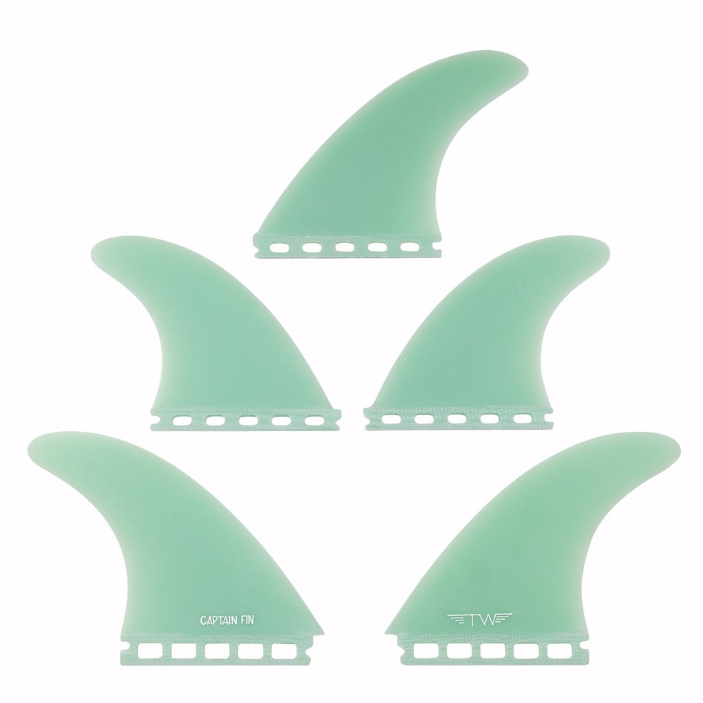 Captain Fin Tyler Warren 5 Fin Set TEAL - Single Tab
