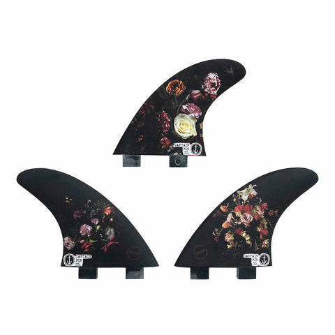 Captain Fin Dion Agius Flowers Twin Tab Tri Fin Set