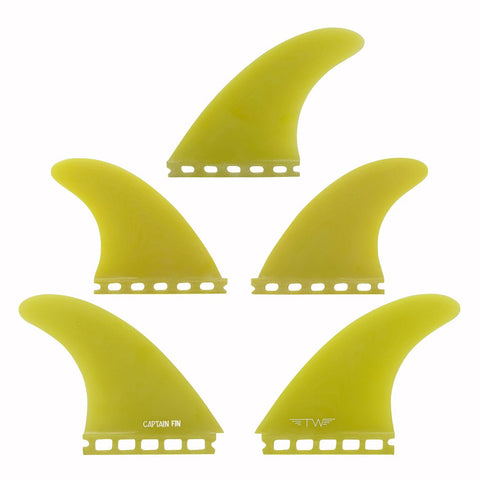 Captain Fin Tyler Warren 5 Fin Set Yellow - Single Tab