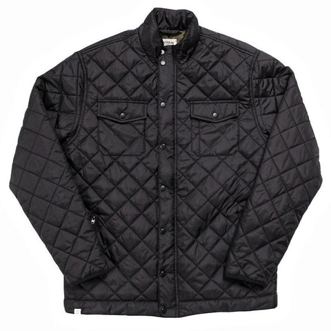 CAPTAIN FIN SEMI PUFF JACKET - BLACK