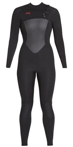 Xcel Women's Axis X 4/3 Backzip Fullsuit - Black/Ivey