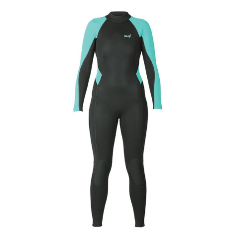 Xcel Ladies Axis Flatlock 3/2mm Backzip - Black/Pistachio