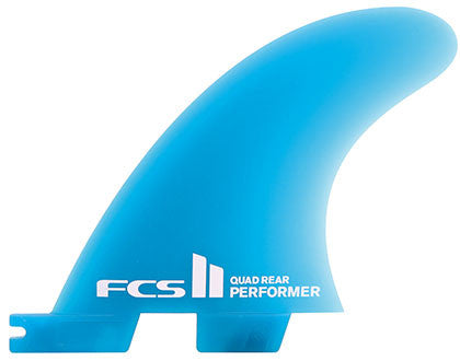 FCSII Performer Neo Glass Quad Rear Fin Set