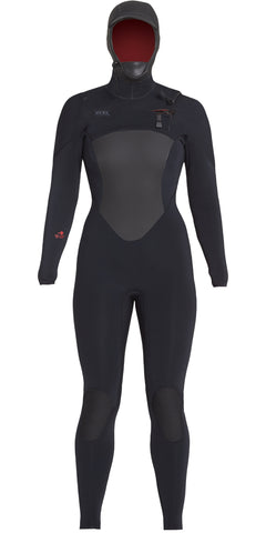 Xcel Ladies Axis 3/2mm Backzip - Black/Goji-Berry Logo